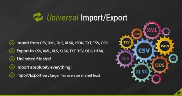 Módulo Opencart Universal Import/Export Pro