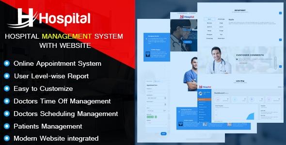 Script para Hospital com agendamento de consultas e Website completo