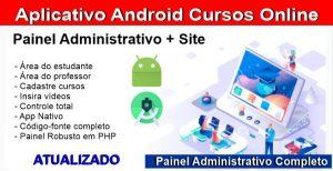 Aplicativo EAD Cursos Online Android Com Site e Administração-