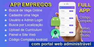 App Aplicativo Empregos Online com Portal e Admin
