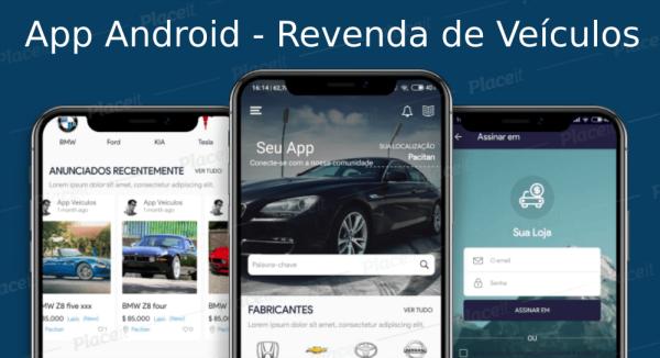 App Aplicativo Android Classificados Veículos com Administração em português Mensal