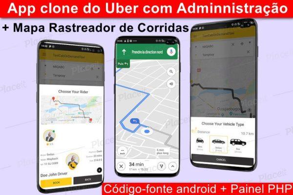 Aplicativo Clone do Uber 99 taxi completo com administração e mapa rastreador de corridas ANDROID