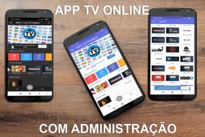 App Aplicativo android Tv Online Ao Vivo Filmes online com administração em Português
