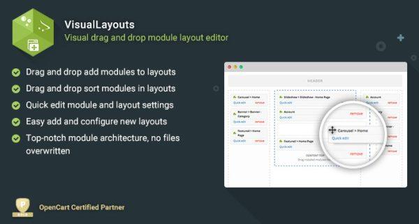 Módulo Opencart editor visual de template (arrastar e soltar) full