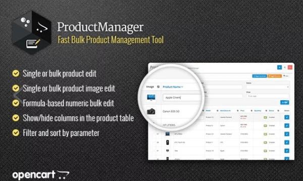Módulo Opencart Gerenciador de produtos (Product manager)