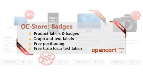 Módulo Opencart Badges Labels