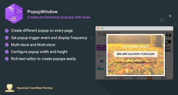 Módulo Opencart Popup Window