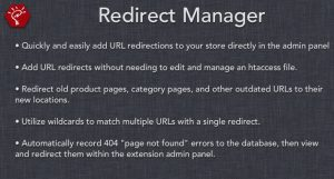 Módulo Opencart Redirect Manager