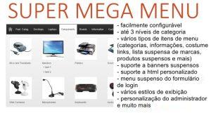 Módulo Opencart Super MegaMenu