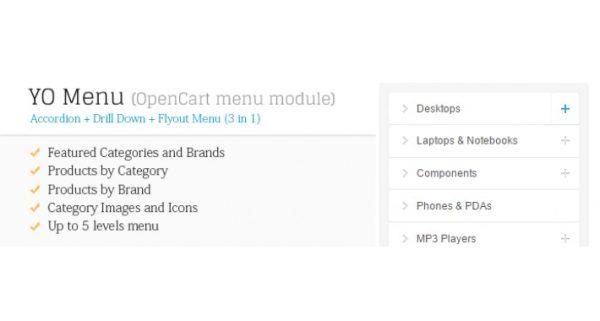 Módulo Opencart Menu Avançado
