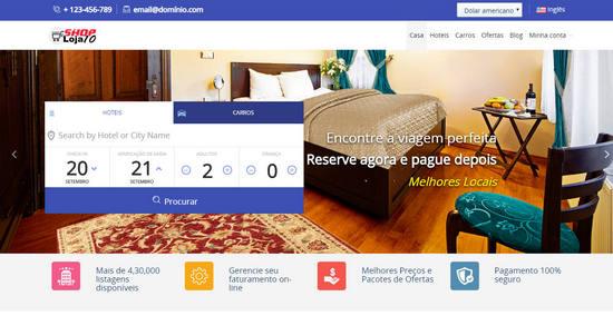 Script Portal de Hotéis e Turismo com Reserva Online Multihotéis em português