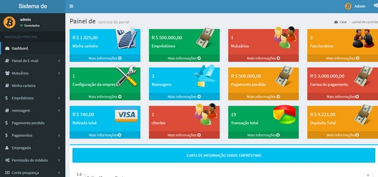 Script Empréstimo online Cooperativa de Crédito Completo Com Admin PHP