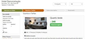 Script motor de reservas de quartos de hotel, pousada Responsivo com PagSeguro em português