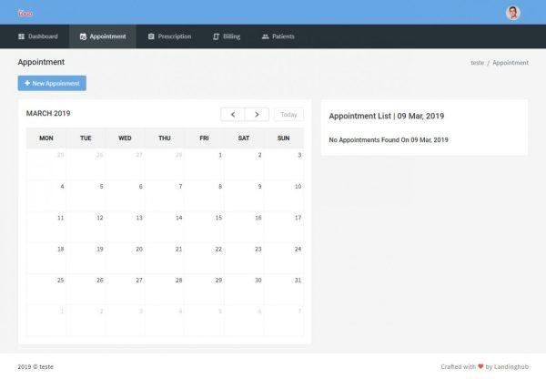 Sistema de Gestão de Pacientes online com admin