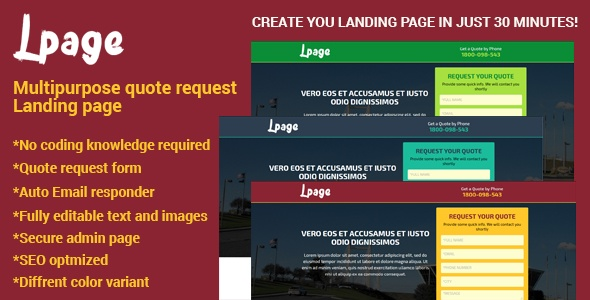 Script Site Administrável Landing Page