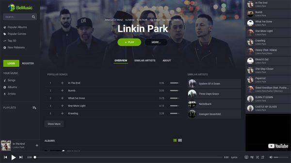Sistema de streaming de música mp3 completo com admin