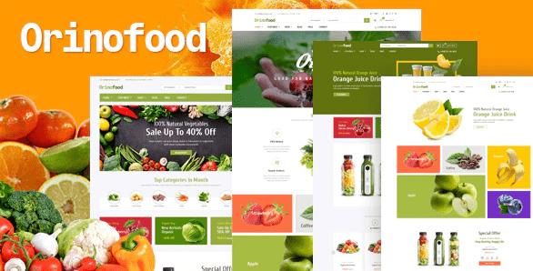Tema Opencart Orionfood loja virtual responsiva